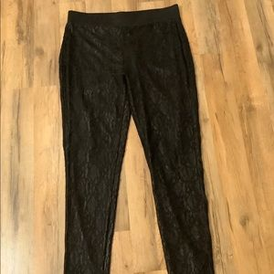 Maurices Black Lace Leggings